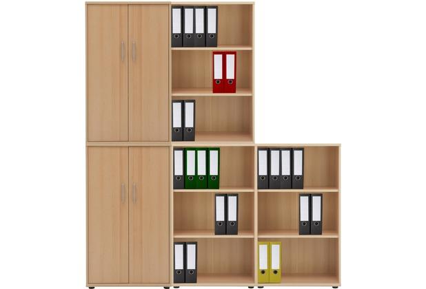 vcm 5 tlg aktenregal set b ro schrank regal b roschrank aktenschrank sideboard omegos 888 buche. Black Bedroom Furniture Sets. Home Design Ideas