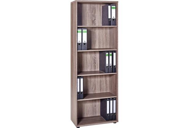 vcm aktenregal b cherregal regal standregal b roregal ordnerregal braso 265 eiche tr ffel. Black Bedroom Furniture Sets. Home Design Ideas