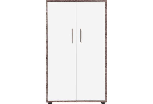 vcm aktenschrank braso 280 regal f r ordner akten eiche tr ffel weiss. Black Bedroom Furniture Sets. Home Design Ideas