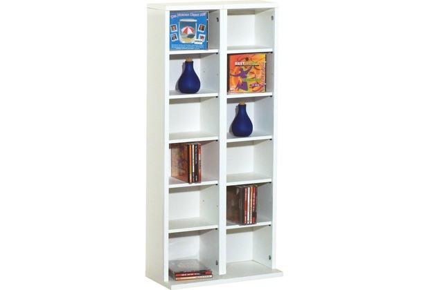 vcm regal dvd cd rack m bel aufbewahrung holzregal standregal m bel anbauprogramm milano weiss. Black Bedroom Furniture Sets. Home Design Ideas
