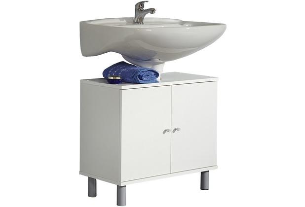 VCM Bad Unterschrank Waschtisch Waschbecken Badschrank Regal Möbel Wascho  Weiß 55 x 60 x 32 cm Badezimmer Weiss-Weiss