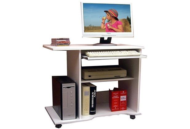 vcm computertisch officano weiss pc schreibtisch mit. Black Bedroom Furniture Sets. Home Design Ideas
