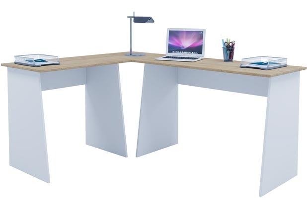 Schreibtisch büro weiß  VCM Eckschreibtisch Schreibtisch Büromöbel Computertisch Winkeltisch ...