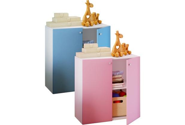VCM Kinderregal Kinderschrank Kommode Kinderzimmer Jugendzimmer Lila Blau  \
