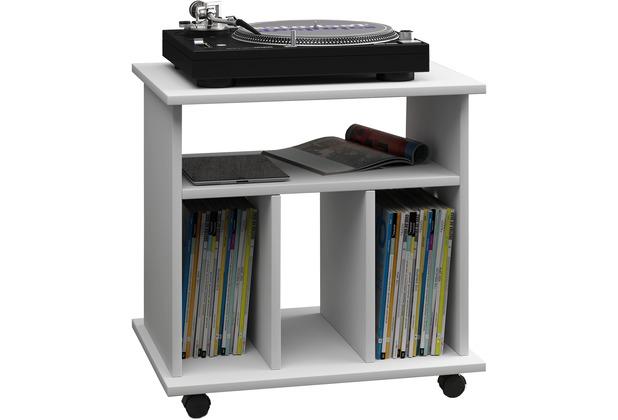vcm lp m bel regal schallplatten phonom bel medienregal schallplattenspieler retal wei. Black Bedroom Furniture Sets. Home Design Ideas