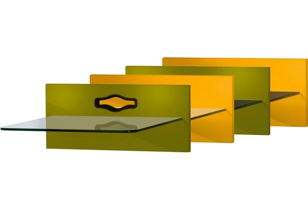 VCM Paneelserie Xeno1 Klarglas Schwarzglas  Hifi