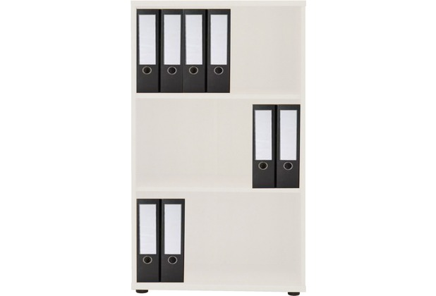vcm regal omegos 2 schrank f r ordner b cher akten lichtgrau. Black Bedroom Furniture Sets. Home Design Ideas