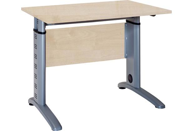 vcm schreibtisch computertisch pc laptop b ro tisch h henverstellbar braso 215 buche. Black Bedroom Furniture Sets. Home Design Ideas