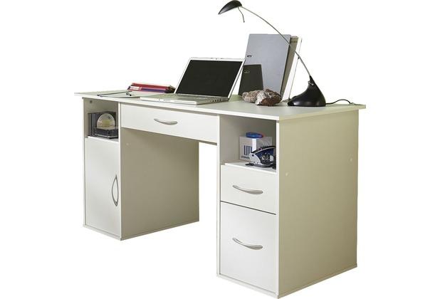 Vcm Schreibtisch Pc Fach Tallinn Weiss Schubladen Computertisch