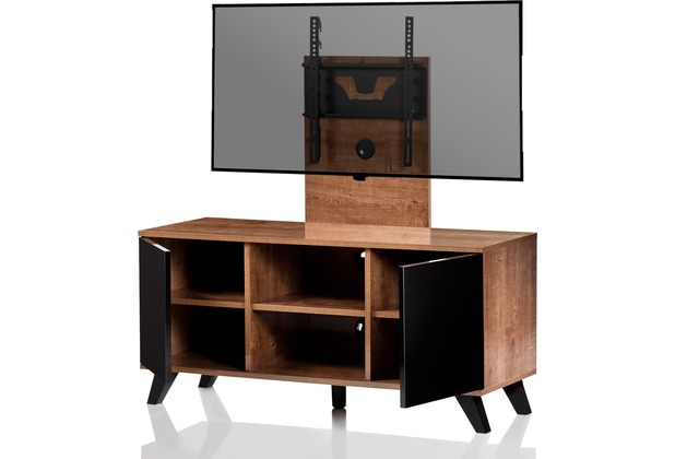 vcm tv lowboard mit halterung ultimate milano optik fernseh rack. Black Bedroom Furniture Sets. Home Design Ideas