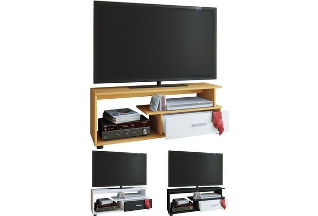 Vcm Tv Lowboard Rack Konsole Fernsehtisch Möbel Tv Bank Tisch Holz