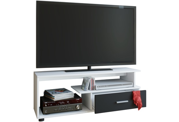 vcm tv lowboard rack konsole fernsehtisch m bel tv bank tisch holz schrank rimini wei. Black Bedroom Furniture Sets. Home Design Ideas