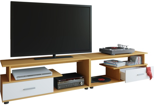 vcm tv lowboard schrank tisch rack fernsehschrank fernsehtisch m bel bank holz rimini maxi. Black Bedroom Furniture Sets. Home Design Ideas