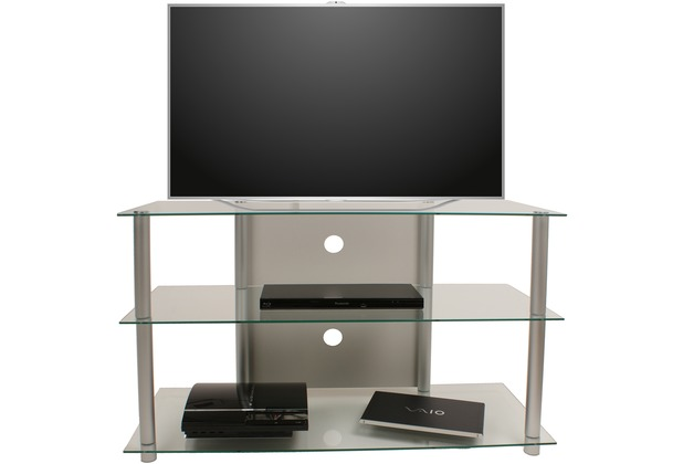 vcm tv m bel olopa xxl lcd rack led tisch alu glas klarglas. Black Bedroom Furniture Sets. Home Design Ideas