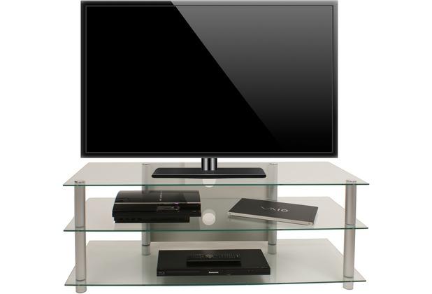 vcm tv m bel zumbo lcd rack led tisch alu glas klarglas. Black Bedroom Furniture Sets. Home Design Ideas