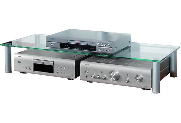 Vcm Tv Glasaufsatz Maxi Tisch Aufsatz Fernseh Erhöhung Aluminium