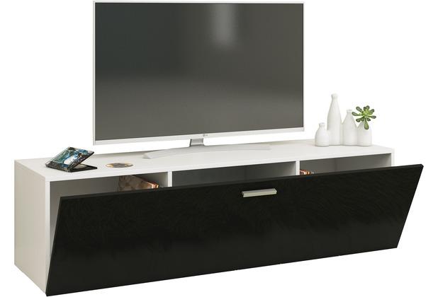 Vcm Tv Wand Board Fernsehtisch Lowboard Wohnwand Regal Wandschrank Schrank Tisch Hängend Fernso B 140cm Weiß Schwarz