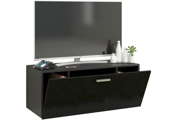 Vcm Tv Wand Board Fernsehtisch Lowboard Wohnwand Regal Wandschrank Schrank Tisch Hangend Fernso B 95cm Schwarz