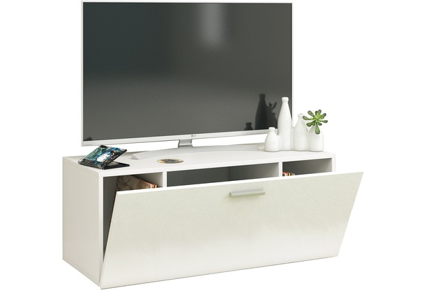 vcm tv wand board fernsehtisch lowboard wohnwand regal. Black Bedroom Furniture Sets. Home Design Ideas