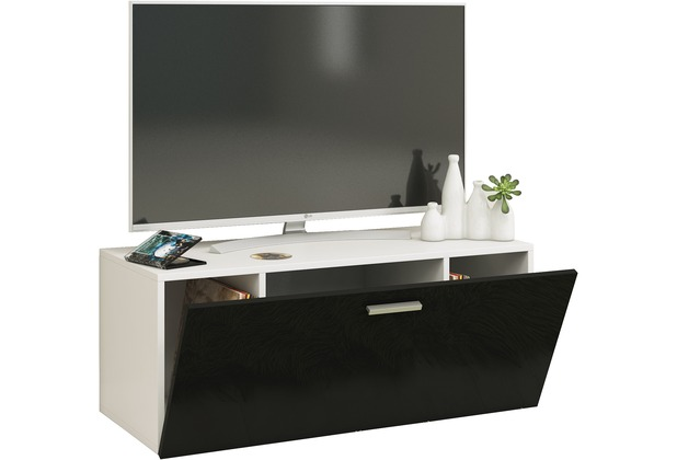 vcm tv wand board fernsehtisch lowboard wohnwand regal wandschrank schrank tisch h ngend fernso. Black Bedroom Furniture Sets. Home Design Ideas