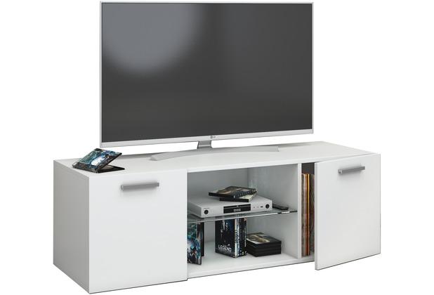Vcm Tv Schrank Lowboard Tisch Board Fernseh Sideboard Wandschrank 95 115 140 Cm Wohnwand Jusa B 115cm Weiss
