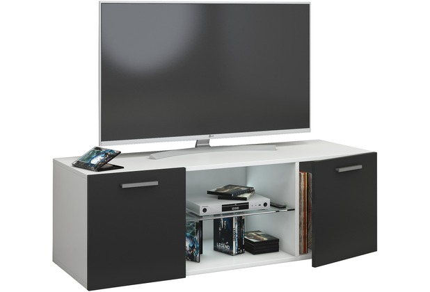 vcm tv schrank lowboard tisch board fernseh sideboard wandschrank 95 115 140 cm wohnwand jusa. Black Bedroom Furniture Sets. Home Design Ideas