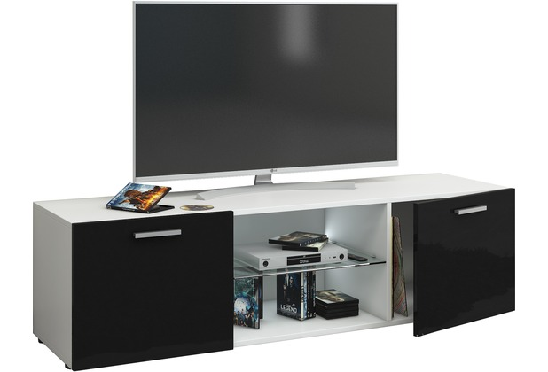 vcm tv lowboard fernsehtisch rack phono m bel tisch holz. Black Bedroom Furniture Sets. Home Design Ideas