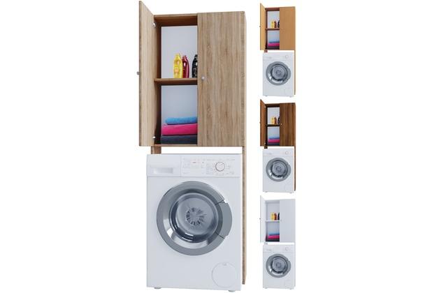 Badmobel Mit Waschmaschinenschrank.Vcm Waschmaschinenschrank Badschrank Hochschrank Badregal Uberbau