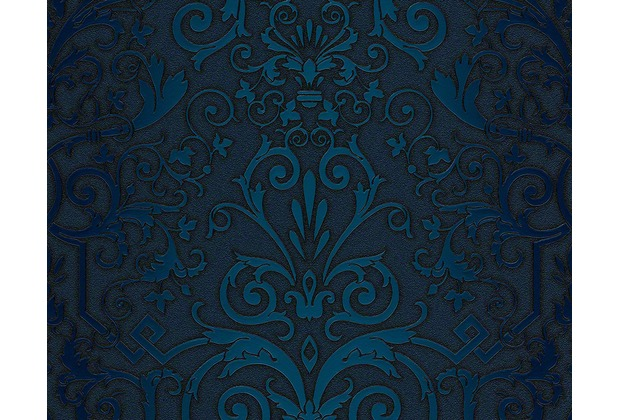 versace klassische mustertapete herald tapete blau. Black Bedroom Furniture Sets. Home Design Ideas