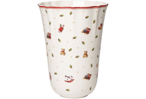 Villeroy Boch Toy S Delight Vase Gross Weiss Rot Hertie De