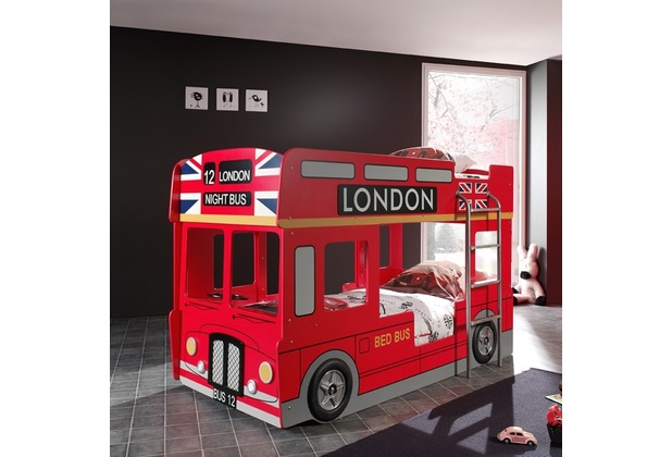 vipack autobett london bus rot. Black Bedroom Furniture Sets. Home Design Ideas