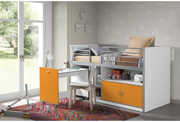 Etagenbett Bonny : Hochbett bonny weiß orange mystylewood möbel