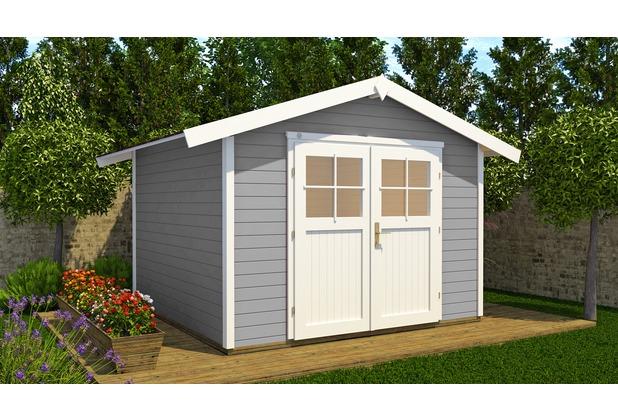 weka gartenhaus 122 gr 4 grau 28 mm massivholzbauweise. Black Bedroom Furniture Sets. Home Design Ideas