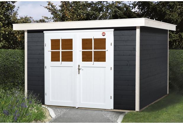 weka gartenhaus 227 gr 3 anthrazit 21 mm. Black Bedroom Furniture Sets. Home Design Ideas