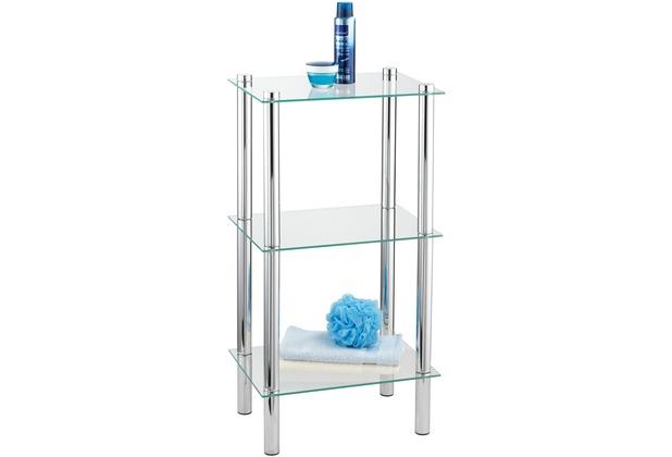 Wenko Regal für Bad und Haushalt Yago mit 3 Glasablagen  Hertiede