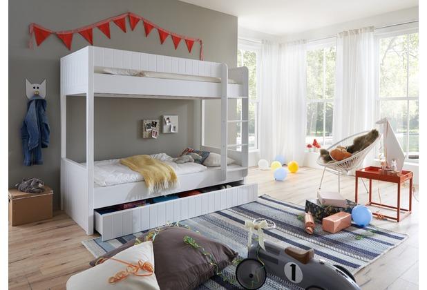 wohngebiet bettkasten luka 90x190 mdf wei lackiert. Black Bedroom Furniture Sets. Home Design Ideas