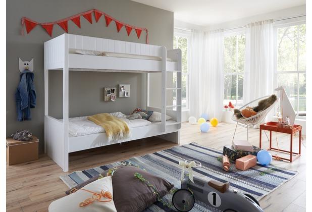 Etagenbett Weiss Buche Massiv : Wohngebiet etagenbett luka 90x200 mrr mdf buche massiv weiß lackiert