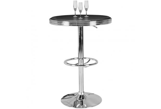wohnling american diner bartisch elvis rund 60 cm aluminium kunstlederbezug retro stehtisch. Black Bedroom Furniture Sets. Home Design Ideas
