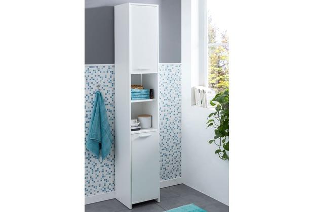 Wohnling Badschrank Wl5751 Modern Holz 305 X 190 X 30 Cm Weiß Badezimmerschrank Mit 2 Türen Beistellschrank Mehrzweckschrank Bad Schrank