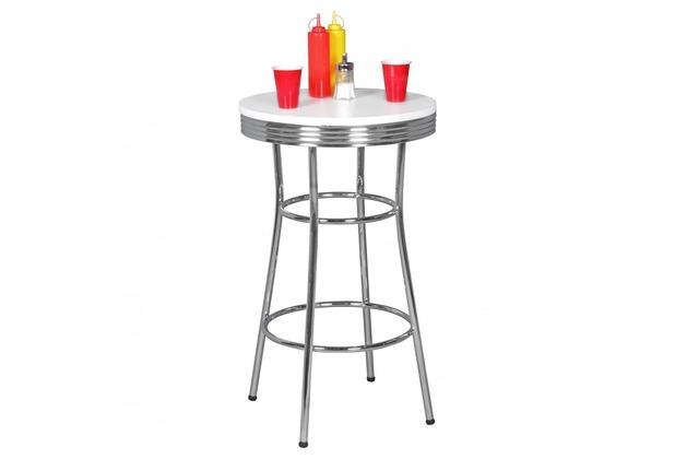 wohnling bartisch rund elvis 60 cm american diner mdf holz alu stehtisch design partytisch. Black Bedroom Furniture Sets. Home Design Ideas