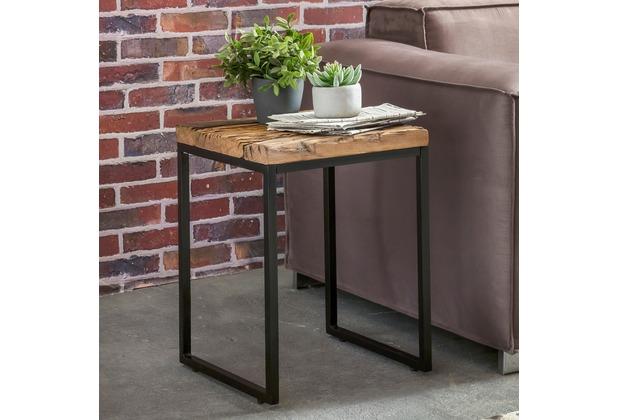Wohnling Beistelltisch Bellary 40x38x55 Cm Massivholz Tisch Mit