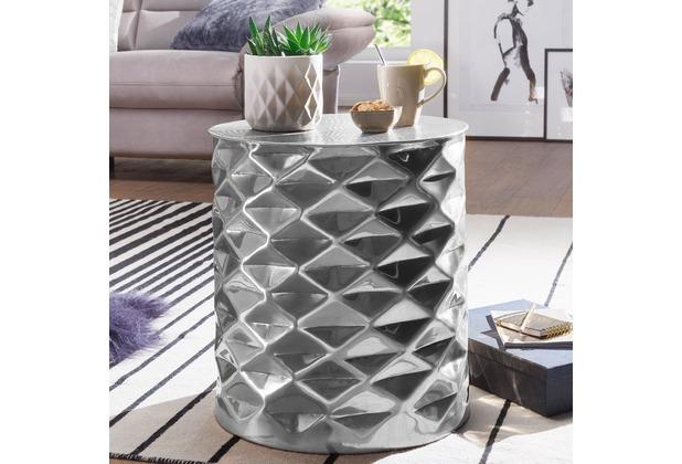 Wohnling Beistelltisch Gopal 43 5x48x43 5 Cm Aluminium Orientalisch
