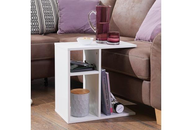 Wohnling Beistelltisch Milo 50x50x30 Cm Holz Weiß Design