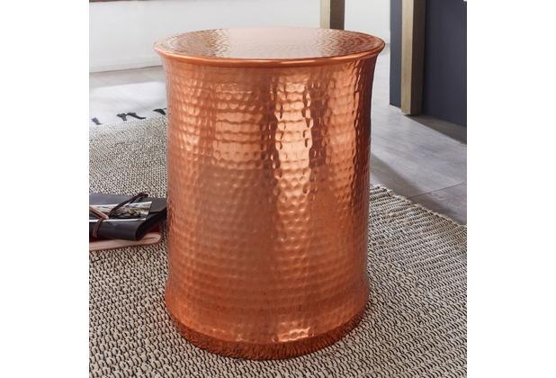 Wohnling beistelltisch tarun 41x50x41 cm aluminium for Kleiner beistelltisch rund