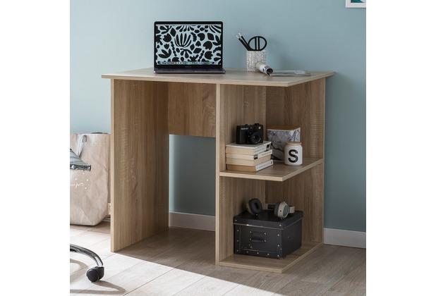 Wohnling Computertisch Wl5758 Sonoma Schreibtisch 82 X 60 X 76 Cm Kleiner Laptop Pc Tisch Büro Ohne Rollen Bürotisch Mit Ablage Arbeitstisch Klein