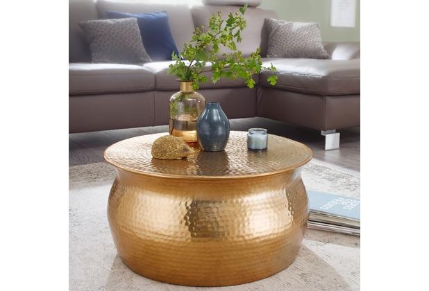 Wohnling Couchtisch Karam 60x30 5x60 Cm Aluminium Gold Beistelltisch