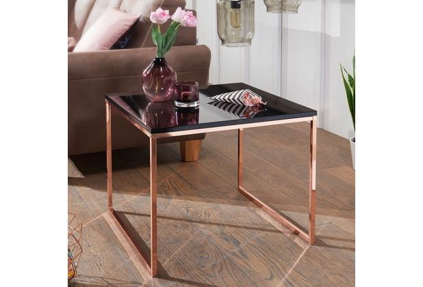 Wohnling Couchtisch Riva 60x50x60 Cm Metall Holz Sofatisch Schwarz
