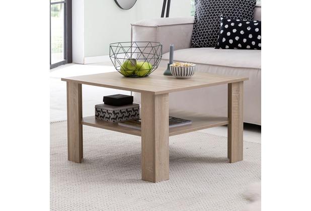Wohnling Couchtisch WL5.830 Sonoma Eiche 70x45x70 cm Design Holztisch mit  Ablage, Wohnzimmertisch Coffee Table, Sofatisch Loungetisch Holz, ...