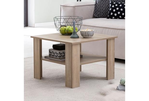 Wohnling Couchtisch WL5.833 Sonoma Eiche 60x42x60 cm Design Holztisch mit  Ablage, Wohnzimmertisch Coffee Table, Sofatisch Loungetisch Holz, ...