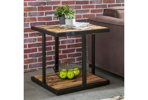 Wohnling Design Beistelltisch Bellary 61x61x61 Cm Massivholz Tisch